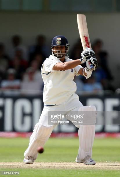 India's Sachin Tendulkar hits out
