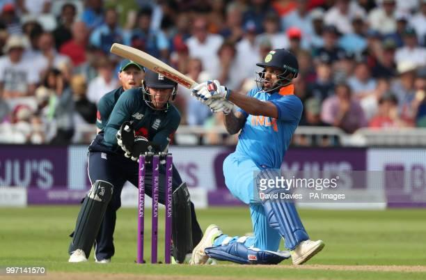 India's Shikhar Dhawan during the One Day International Series match at Trent Bridge Nottingham