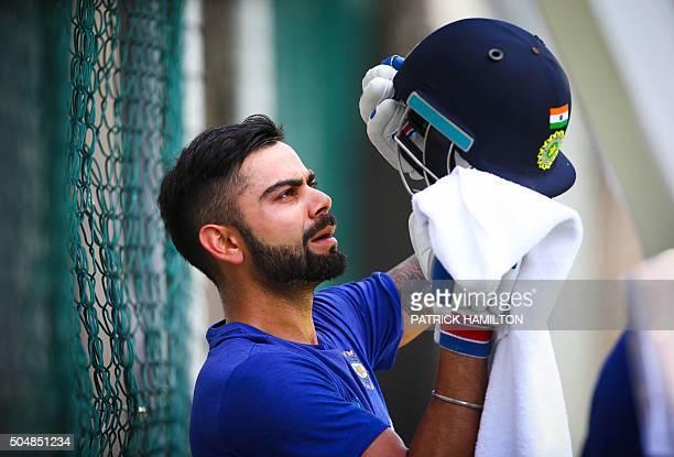 India's Virat Kohli attends a cricket training session in Brisbane on January 14 2016 AFP PHOTO / PATRICK HAMILTON / AFP / PATRICK HAMILTON