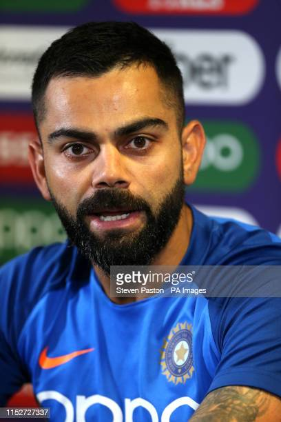 India's Virat Kohli during the press conference at Edgbaston, Birmingham.