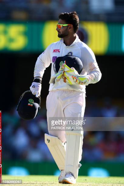 India's wicketkeeper Rishabh Pant gets back to his fielding position on day one of the fourth cricket Test match between Australia and India at The...