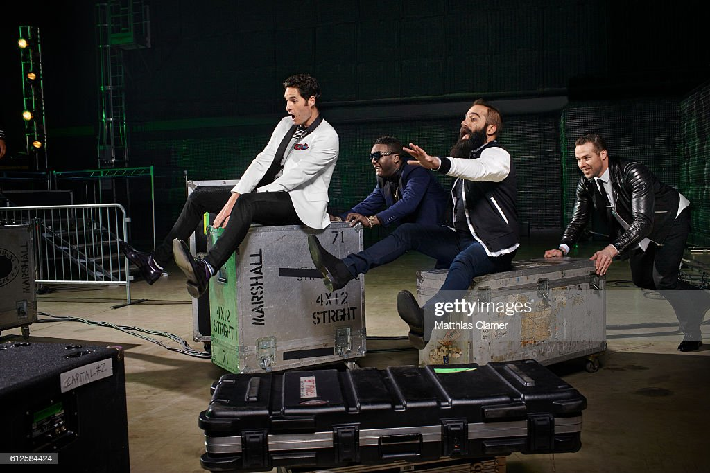 Indie band, Capital Cities and hockey player Dustin Penner are photographed for ESPN Magazine, The Music Issue on December 30, 2013 in Los Angeles, California. PUBLISHED