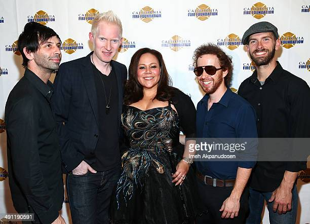 Indie band Magnolia Memoir with lead singer Mela Lee attend the California Fire Foundation Inaugural Gala Benefit at Sheraton Universal on May 15...