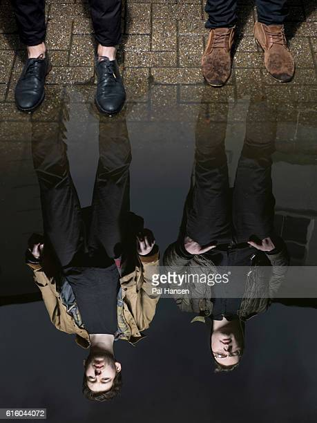 Indie band Man Without Country are photographed for Under the Radar magazine on April 18 2012 in London England