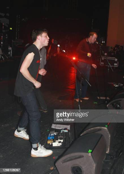 Indie band The Maccabees performing with Edywn Collins from Orange Juice at Brixton Academy