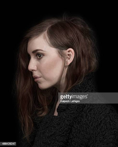 Indie pop singer and musician Lykke Li is photographed for the Independent on April 4 2014 in London England