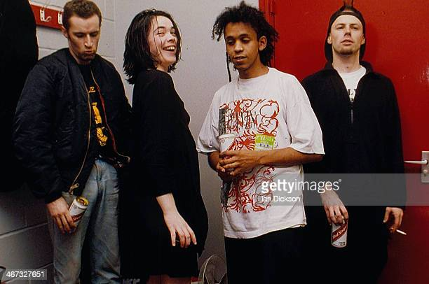 Indie rock band Silverfish in a posed portrait circa 1990