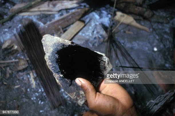 Indien Huaorani fabricant une flèche au curare en Equateur en 1991