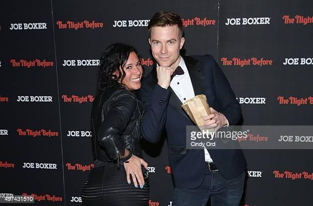 Indiepop duo Matt Johnson and Kim Schifino attend 'The Night Before' New York Premiere at Landmark Sunshine Cinema on November 16 2015 in New York...