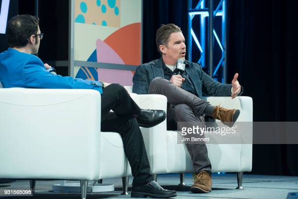 Indiewire Deputy Editor and Chief Film Critic Erick Kohn talks with Ethan Hawke during the SXSW Film session 'A Conversation With Ethan Hawke' on...