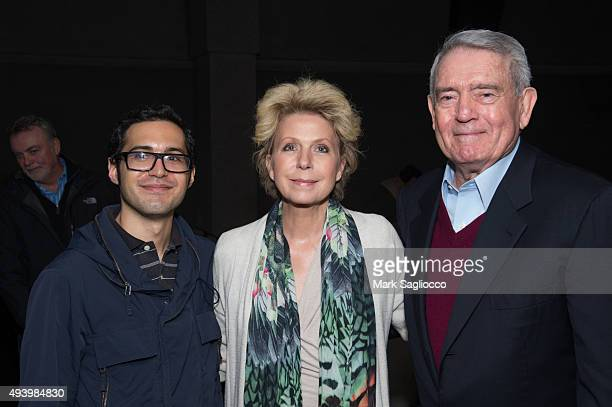 IndieWire Film Critic Eric Kohn Author Mary Mapes and Dan Rather attend the Truth New York special screening at the Lincoln Plaza Cinema on October...