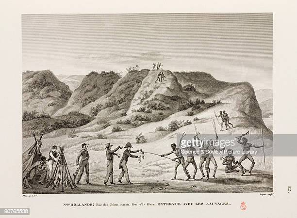 Indigenous Australians portrayed as suspicious savages accepting gifts from Europeans In reality many aboriginal people were disinterested in such...