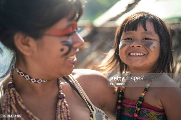 Indigenous Brazilian Sisters Portrait from Tupi Guarani Ethnicity