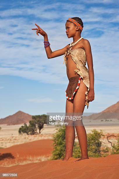 Indigenous Bushman/San girl of Namibia
