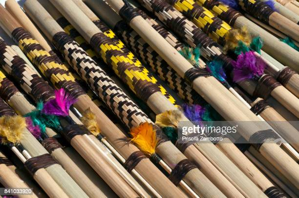 indigenous crafts - blowpipe - blowpipe stock pictures, royalty-free photos & images