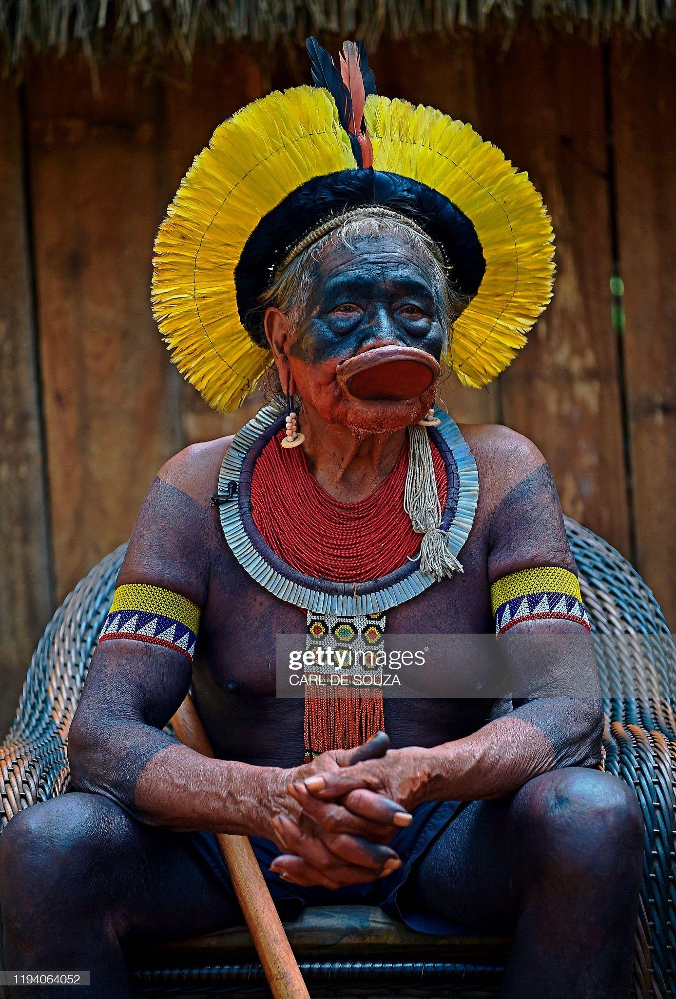 BRAZIL-POLITICS-ENVIRONMENT-AMAZON-INDIGENOUS-RAONI : Foto di attualità