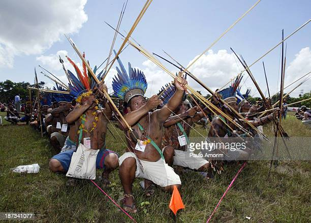 Indigenous people from across the Brazil Amazon today led over 1000 participants leaders, social and evironmental justice groups unite during the...
