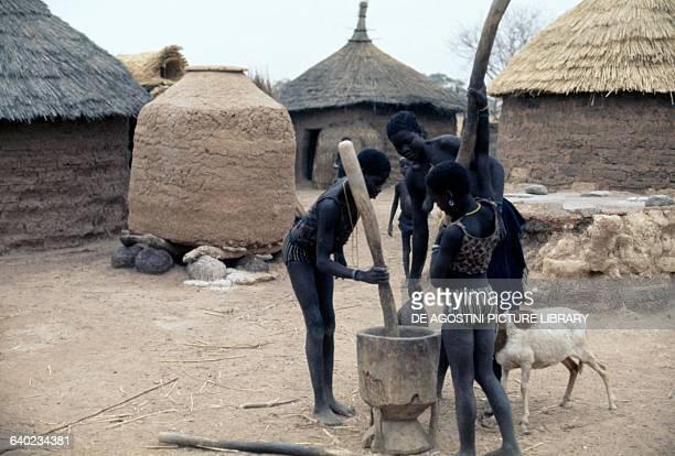 Indigenous people in a village Sogodan Burkina Faso