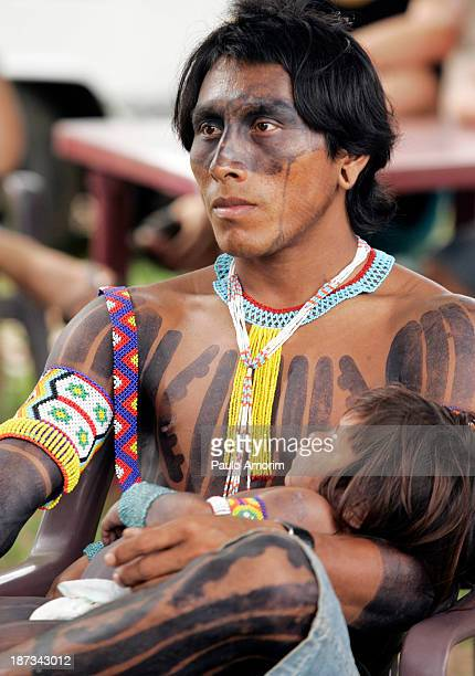 Indigenous people wait for a meeting during the World Social Forum, in Belem, Brazil, Wednesday, Jan. 28, 2009. The World Social Forum, the annual...