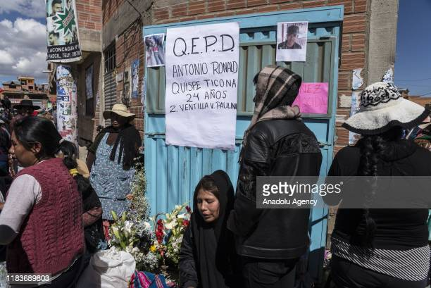 Indigenous relatives mourn during a collective funeral of 8 people killed during clashes with the security officers in the streets of Senkata, a...