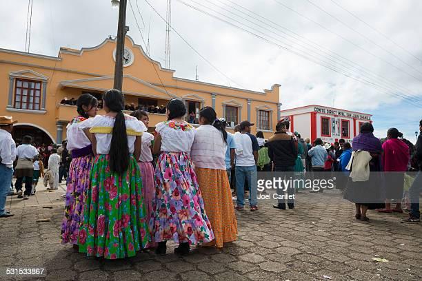 indigenous tzotzil people in san juan chamula - chiapas stock pictures, royalty-free photos & images
