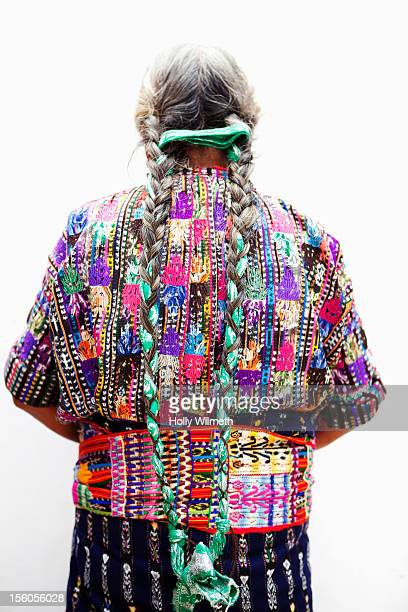indigenous woman from guatemala. - guatemala stock-fotos und bilder