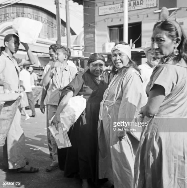 Indigenous women of Goajira at a mart in Maracaibo Venezuela 1966