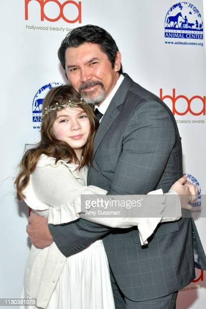 Indigo Sanara Phillips and Lou Diamond Phillips attend the 2019 Hollywood Beauty Awards at Avalon Hollywood on February 17 2019 in Los Angeles...