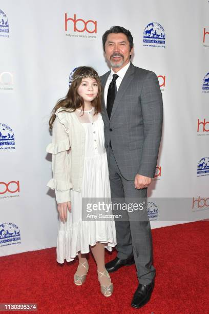 Indigo Sanara Phillips and Lou Diamond Phillips attend the 2019 Hollywood Beauty Awards at Avalon Hollywood on February 17 2019 in Los Angeles...