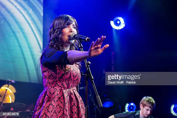 Indila performs during Orange RockCorps at Le Trianon on July 2 2014 in Paris France