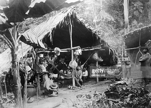 Indio camp in Demerara British Guiana undated probably in the 1910's