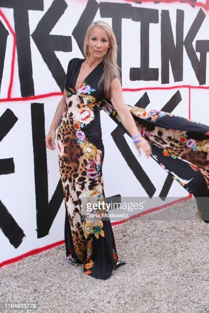 Indira Cesarine at the 26th annual Watermill Center Summer Benefit on July 27 2019 in Water Mill New York