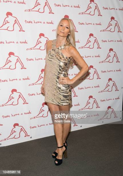 Indira Cesarine attends 'Take Home A Nude' New York Academy of Art benefit at Sotheby's on October 9 2018 in New York City
