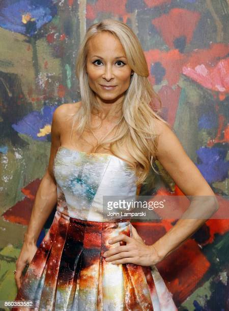 Indira Cesarine attends the 2017 Take Home A Nude Art Party and auction at Sotheby's on October 11 2017 in New York City
