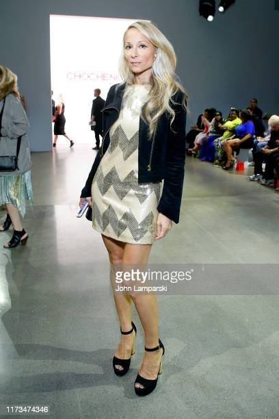 Indira Cesarine attends the Chocheng front row during New York Fashion Week The Shows at Gallery II at Spring Studios on September 09 2019 in New...