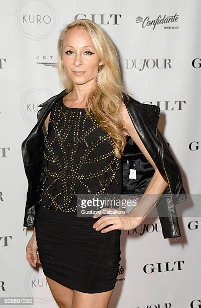 Indira Cesarine attends the DuJour Media Gilt JetSmarter party to kick off Art Basel at The Confidante on November 30 2016 in Miami Beach Florida