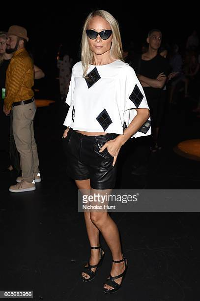 Indira Cesarine attends the Naeem Khan fashion show during New York Fashion Week The Shows at The Arc Skylight at Moynihan Station on September 14...