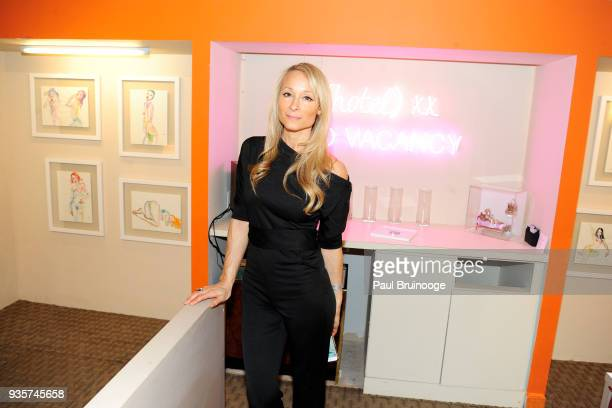 Indira Cesarine attends the SPRING/BREAK Collectors Press Preview at 4 Times Square on March 6 2018 in New York City