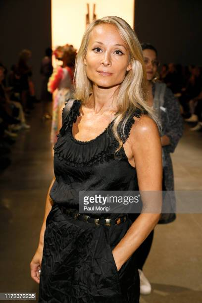 Indira Cesarine attends the Victoria Hayes front row during New York Fashion Week The Shows at Gallery II at Spring Studios on September 04 2019 in...