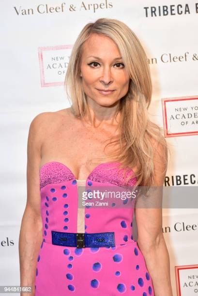 Indira Cesarine attends Tribeca Ball to benefit New York Academy of Art at New York Academy of Art on April 9 2018 in New York City Indira Cesarine