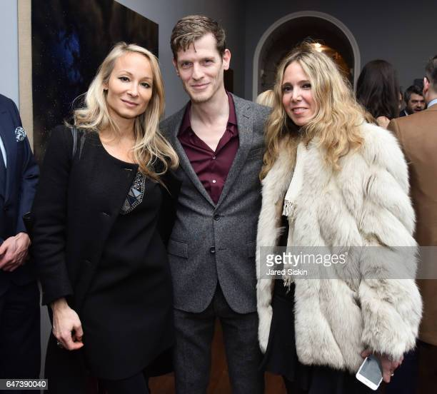 Indira Cesarine Damian Loeb and Susan K attend Damian Loeb Sgr A* at Acquavella Galleries on March 2 2017 in New York City