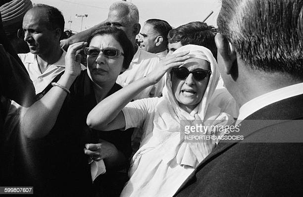 Indira Gandhi Attends the Cremation of Her Father Jawaharlal Nehru On the Banks Of the Yamuna River in India on May 29 1964