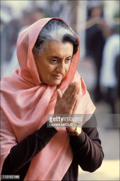Indira Gandhi in India on September 25 1980 Mrs Indira Gandhi Prime Minister of India 196677 and 198084 She was assassinated