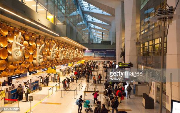 indira gandhi international airport in new delhi, india - delhi stock pictures, royalty-free photos & images