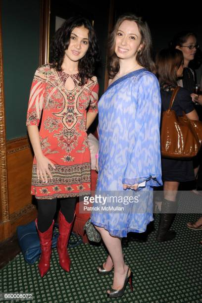 Indira Gumarova and Amanda Block attend THE NEW YORK JUNIOR LEAGUE W Magazine Host BABES BAGS and BUBBLES at The New York Junior League on May 28...