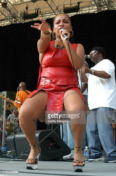 Indira Khan during Chaka Khan and Indira Khan at 2003 SummerStage at Central Park SummerStage, Rumsey Playfield in New York City, New York, United...