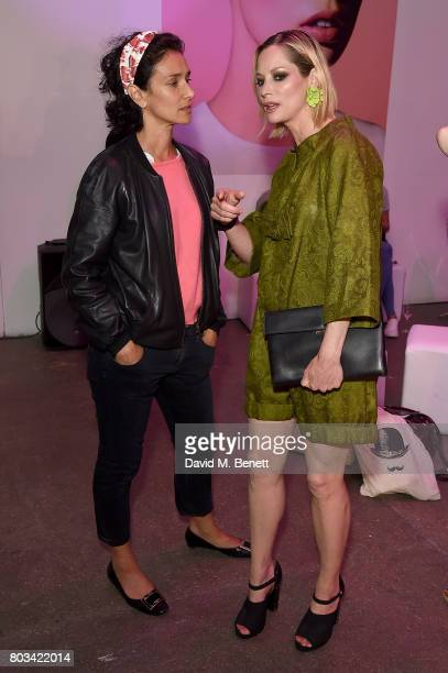 Indira Varma and Sienna Guillory attend cosmetics brand NARs summer party alongside VIP friends and fans of the brand at Protein on June 29 2017 in...
