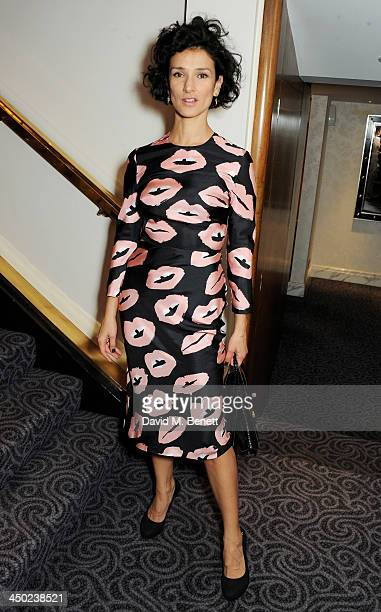 Indira Varma attends a drinks reception at the 59th London Evening Standard Theatre Awards at The Savoy Hotel on November 17 2013 in London England