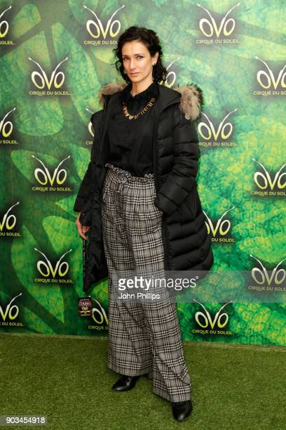 Indira Varma attends the Cirque du Soleil OVO premiere at Royal Albert Hall on January 10 2018 in London England
