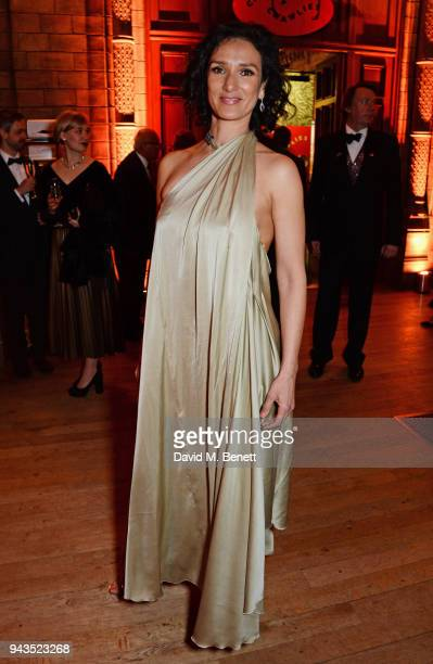 Indira Varma attends The Olivier Awards with Mastercard after party at the Natural History Museum on April 8 2018 in London England